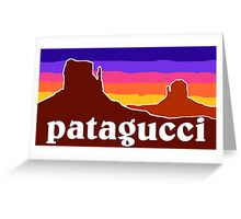 Patagucci Canyons Greeting Card