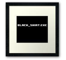 Black Shirt Exe Framed Print
