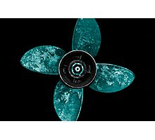 Propeller - Teal Photographic Print