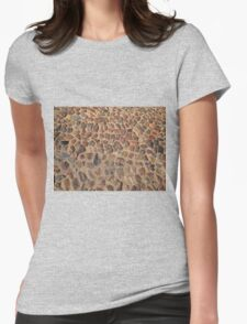 Old cobbled stones road background Womens Fitted T-Shirt