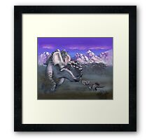 An Albino at Sunset Framed Print