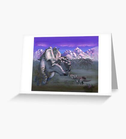 An Albino at Sunset Greeting Card