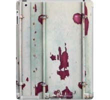 Closeup of cargo shipping containers iPad Case/Skin