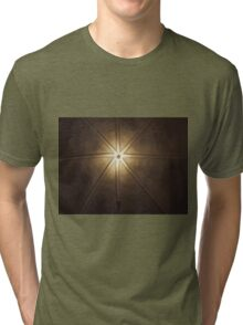 Beautiful lamps on ceiling of a church Tri-blend T-Shirt