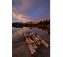 Raft on the Lakeshore Photographic Print