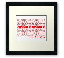 Gobble Gobble Retro Thanksgiving Framed Print