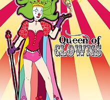 The Queen of Clowns by thickblackoutline