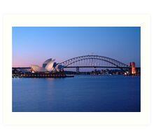 Sydney Icons at Twilight Art Print