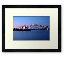 Sydney Icons at Twilight Framed Print