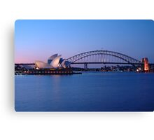 Sydney Icons at Twilight Canvas Print