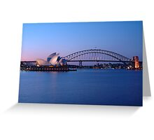 Sydney Icons at Twilight Greeting Card