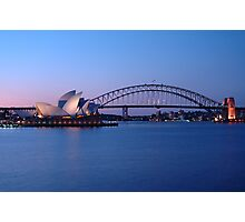 Sydney Icons at Twilight Photographic Print