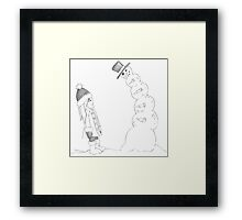 """PENCIL ART - What's Our """"Go-To"""" Number Whenever Anyone Asks Us How Many Partners We've Slept With Framed Print"""