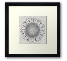 2014 flower hatched Framed Print