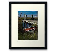 River Worker Framed Print