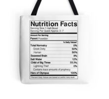 Half-Blood Nutrition Guide (Percy) Tote Bag