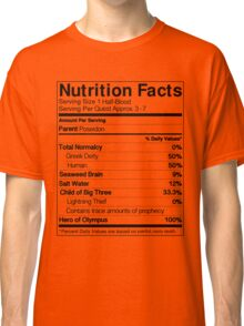 Half-Blood Nutrition Guide (Percy) Classic T-Shirt