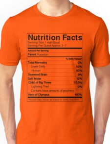Half-Blood Nutrition Guide (Percy) Unisex T-Shirt