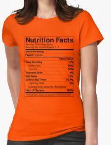 Half-Blood Nutrition Guide (Percy) Womens Fitted T-Shirt