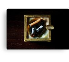Ashtray with cigarettes stubs Canvas Print
