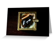Ashtray with cigarettes stubs Greeting Card