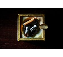 Ashtray with cigarettes stubs Photographic Print