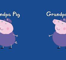 Grandpa Pig Mug by Russ Jericho
