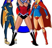 Batgirl, Wonder Woman and Supergirl - The New 52 (Target) by RabidDog008