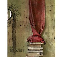 _ mirror, silk and books _ Photographic Print