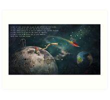 """""""La Lune"""" Illustration M.Konecka - Text E.Tchijakoff Art Print"""