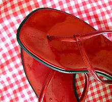 Red sandals by perempuan