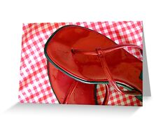 Red sandals Greeting Card