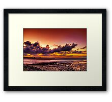 Sunset at Scarborough Framed Print