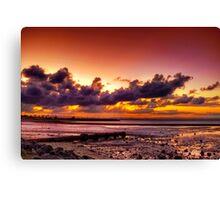 Sunset at Scarborough Canvas Print