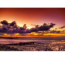Sunset at Scarborough Photographic Print