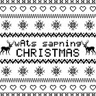 wAts sapning CHRISTMAS (dark text) by kittenblaine