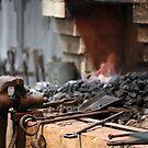 Mont De Lancey Blacksmithing 11 by Samantha Cole-Surjan