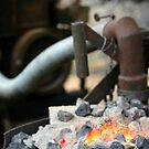 Mont De Lancey Blacksmithing 4 by Samantha Cole-Surjan