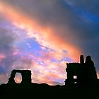 clouds over Newark Castle by kathywaldron