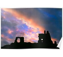 clouds over Newark Castle Poster
