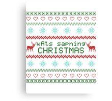 wAts sapning CHRISTMAS (colored text) Canvas Print