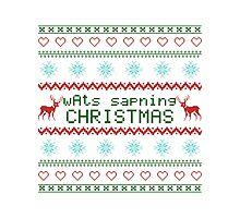 wAts sapning CHRISTMAS (colored text) Photographic Print