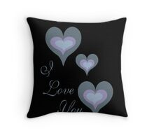 VALENTINE, I LOVE YOU Throw Pillow