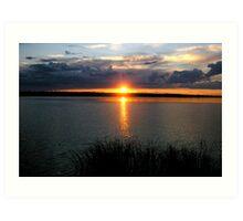 manipogo sunset Art Print