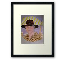 Contemporary Native American Chief Framed Print