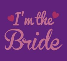 I'm the BRIDE wedding marriage shirt by jazzydevil