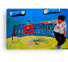 Budda on a bench 2 Canvas Print