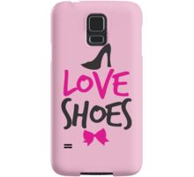 LOVE SHOES with funky fashion black shoes and a bow Samsung Galaxy Case/Skin