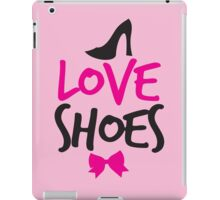 LOVE SHOES with funky fashion black shoes and a bow iPad Case/Skin