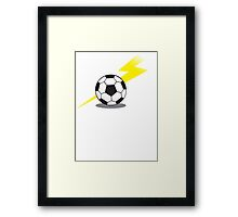 Football Soccer ball with a lightning bolt Framed Print